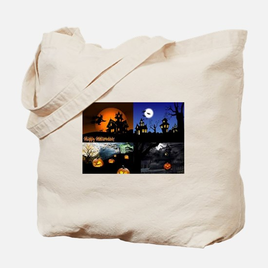 Halloween Scenes Tote Bag