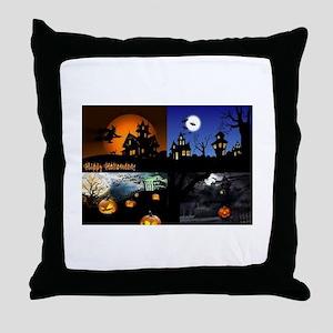 Halloween Scenes Throw Pillow