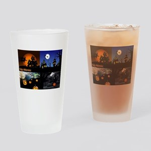 Halloween Scenes Drinking Glass