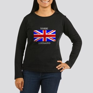 York England Women's Long Sleeve Dark T-Shirt
