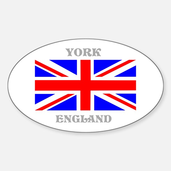 York England Sticker (Oval)