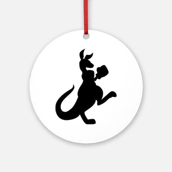 Boxing Kangaroo Ornament (Round)