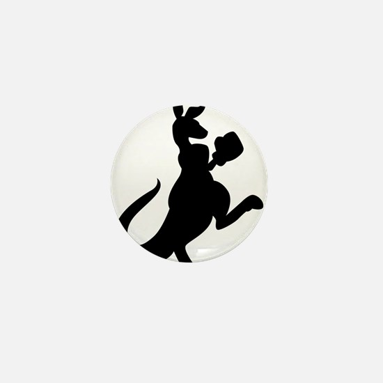 Boxing Kangaroo Mini Button