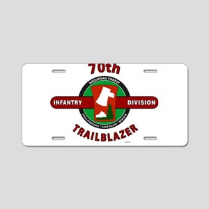 70th Infantry Division TrailBlazer Aluminum Licens