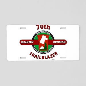 70th Infantry Division TrailBlazer Aluminum Licens