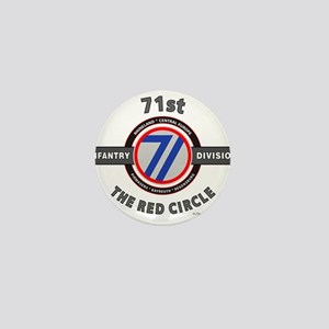 71st Infantry Division The Red Circle Mini Button