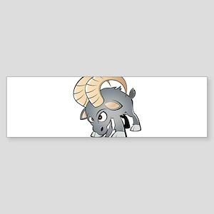 Cartoon Ram Bumper Sticker
