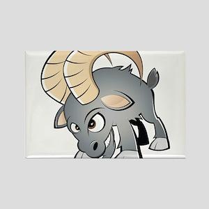 Cartoon Ram Rectangle Magnet