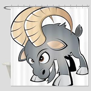 Cartoon Ram Shower Curtain