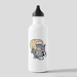 Cartoon Ram Water Bottle