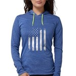 USA Flag Womens Hooded Shirt