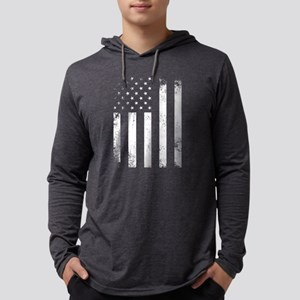 USA Flag Mens Hooded Shirt