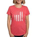 USA Flag Womens Tri-blend T-Shirt