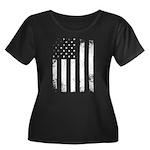 USA Flag Plus Size T-Shirt