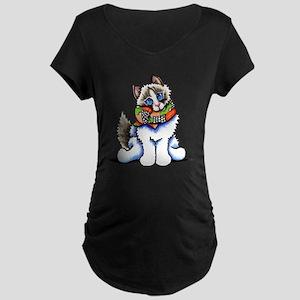 Ragdoll Scarf Maternity T-Shirt