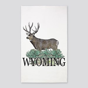 Wyoming buck 3'x5' Area Rug