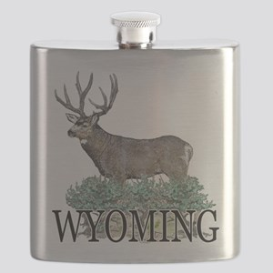 Wyoming buck Flask