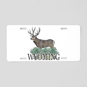 Wyoming buck Aluminum License Plate