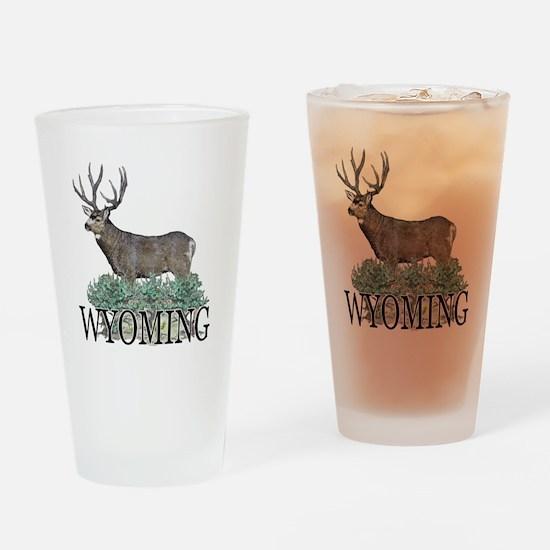 Wyoming buck Drinking Glass