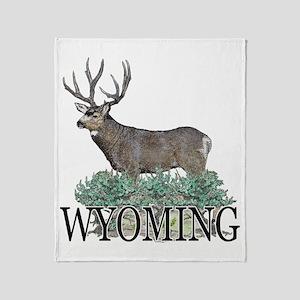 Wyoming buck Throw Blanket