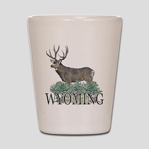 Wyoming buck Shot Glass