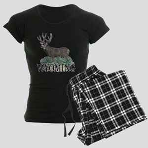Wyoming buck Women's Dark Pajamas