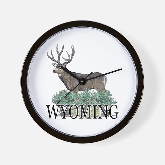 Wyoming buck Wall Clock