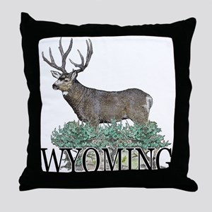 Wyoming buck Throw Pillow