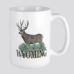 Wyoming buck Large Mug