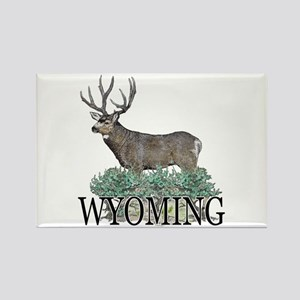 Wyoming buck Rectangle Magnet