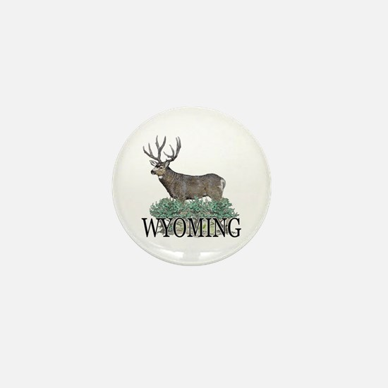Wyoming buck Mini Button