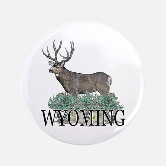 "Wyoming buck 3.5"" Button"