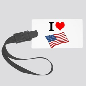 I Love the United States Large Luggage Tag