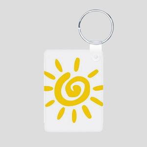 Sunshine Aluminum Photo Keychain