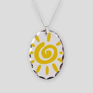 Sunshine Necklace Oval Charm