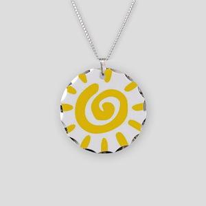 Sunshine Necklace Circle Charm