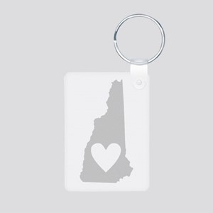 Heart New Hampshire Aluminum Photo Keychain