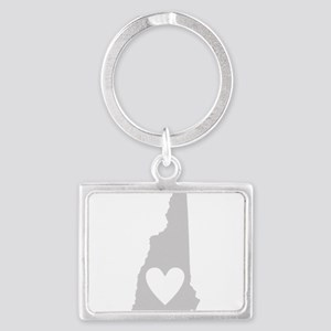 Heart New Hampshire Landscape Keychain