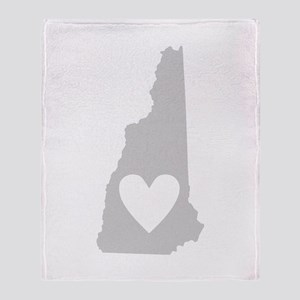 Heart New Hampshire Throw Blanket