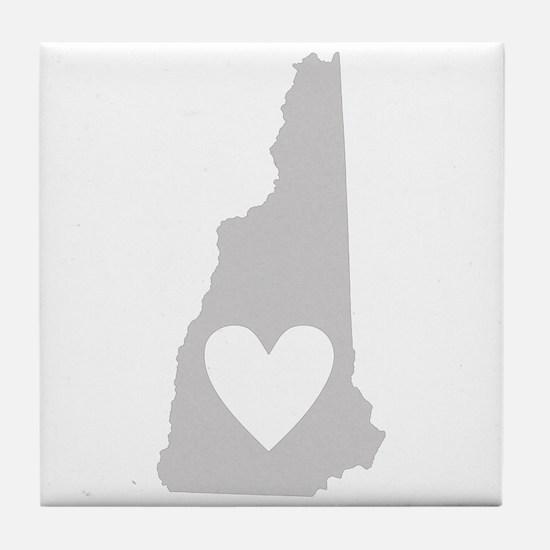 Heart New Hampshire Tile Coaster