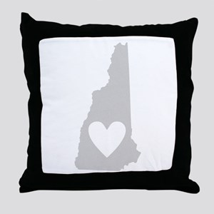 Heart New Hampshire Throw Pillow