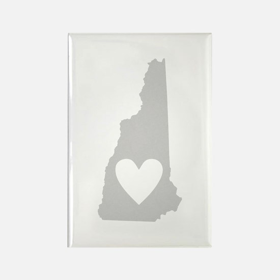 Heart New Hampshire Rectangle Magnet