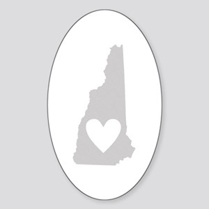 Heart New Hampshire Sticker (Oval)