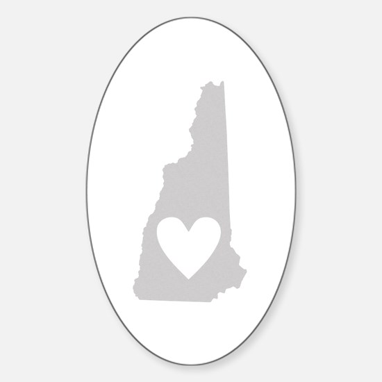 Heart New Hampshire Sticker (Oval)