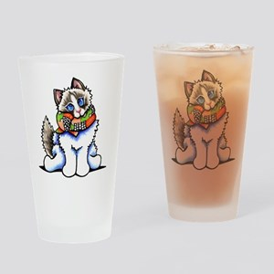 Ragdoll Scarf Drinking Glass