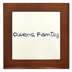 Owens Family Framed Tile