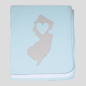 Heart New Jersey baby blanket