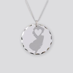 Heart New Jersey Necklace Circle Charm