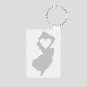 Heart New Jersey Aluminum Photo Keychain