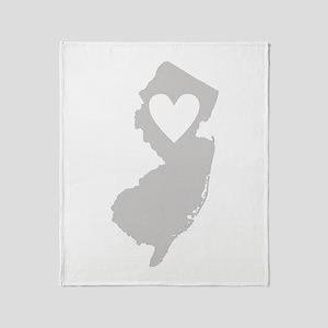 Heart New Jersey Throw Blanket